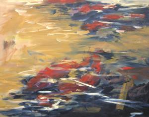 "Run #11 SOLD acrylic on canvas 28 "" x 36"""