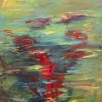 "Run #13 SOLD acrylic on canvas 36 "" x 30"""
