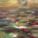 "Run #5 acrylic on canvas 30"" x 36"""